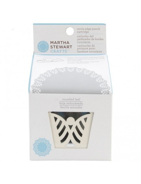 Martha Stewart Circle Border Cartridge Rounded Leaf. Necesita el Circle Border Set 42-93001 (Cod. 015586959413)