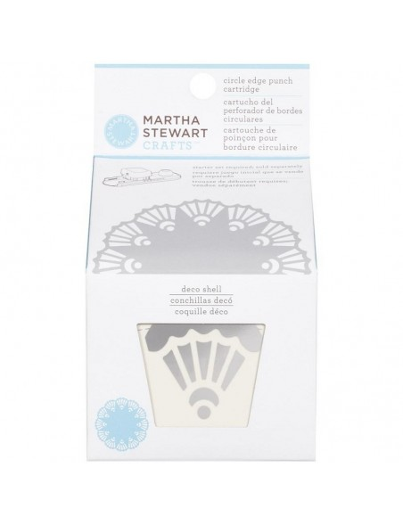 Martha Stewart Circle Border Cartridge Deco Shell. Requiered Works with Circle Border Set 42-93001 (Cod. 015586959413)