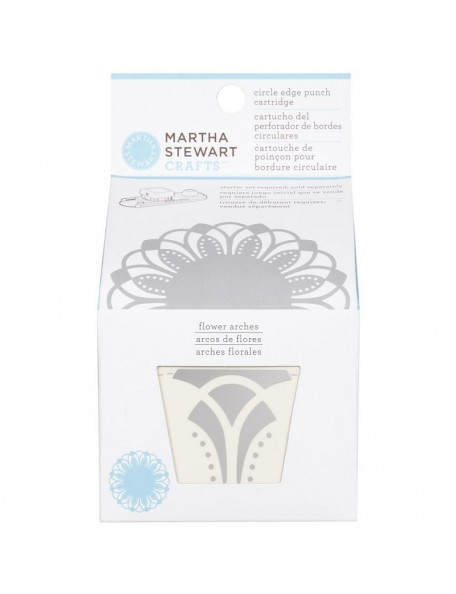 Martha Stewart Circle Border Cartridge Flowers Arches. Requiered Works with Circle Border Set 42-93001 (Cod. 015586959413)