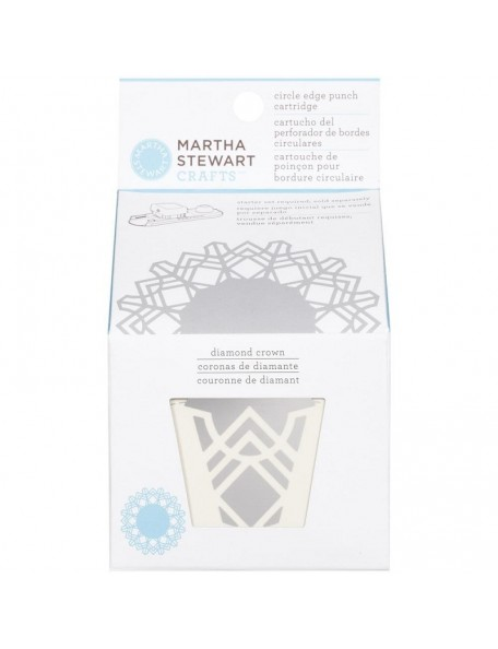 Martha Stewart Circle Border Cartridge Diamond Crown. Requiered Works with Circle Border Set 42-93001 (Cod. 015586959413)