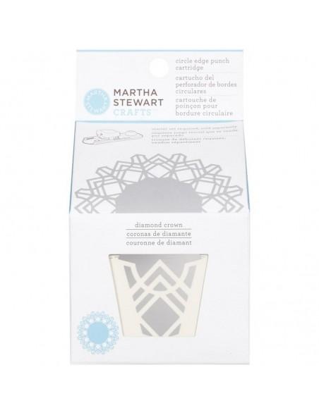Martha Stewart Circle Border Cartridge Diamond Crown. Necesita el Circle Border Set 42-93001 (Cod. 015586959413)
