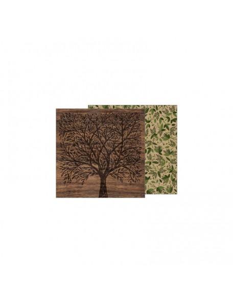 "Jen Hadfield Heart Of Home Cardstock de doble cara 12""X12"",Forest Botanical"
