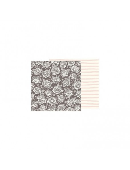 "Jen Hadfield Heart Of Home Cardstock de doble cara 12""X12"", Pretty Peony"