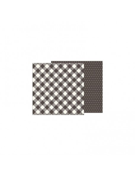 "Jen Hadfield Heart Of Home Cardstock de doble cara 12""X12"",Pinstripe Buffalo Check"