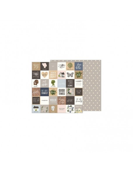 "Jen Hadfield Heart Of Home Cardstock de doble cara 12""X12"", Love At Home"