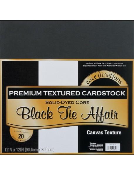 "Core´dinations - Black Tie Affair Canvas Cardstock 12""x12"""