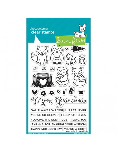 "Lawn Fawn Mom & Me Clear Stamps 4""X6"""