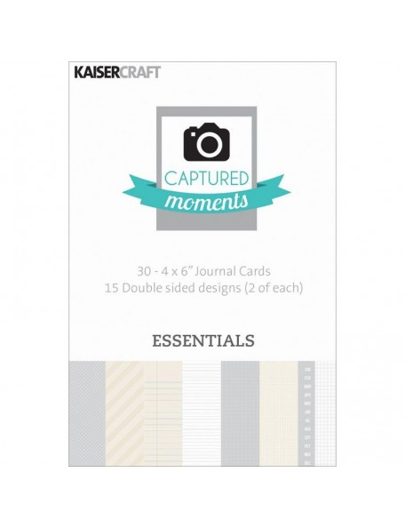"""Kaisercraft Captured Moments Double-Sided Cards 6""""X4"""" 30 Essentials"""