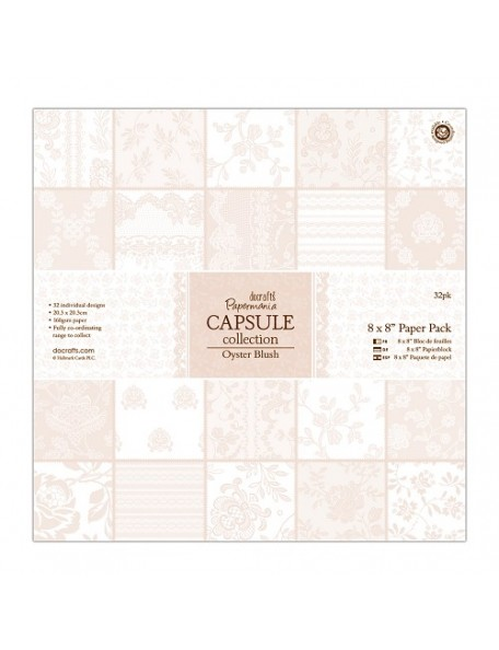 "Docrafts Papermania Capsule Pack 8""x8"" (32 hojas)"
