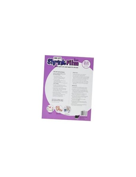"Ink Jet Shrink Film 8.5""X11"" 6 Clear"