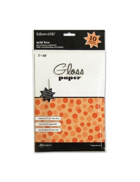"Ranger Gloss Paper 7""x10"""