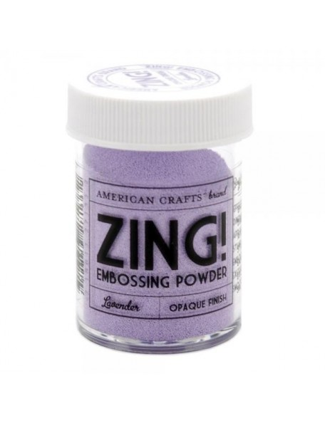 American Crafts Zing! embossing Opaque Finish Lavender