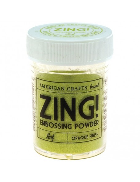 American Crafts Zing! Opaque Embossing Powder 1Oz Leaf