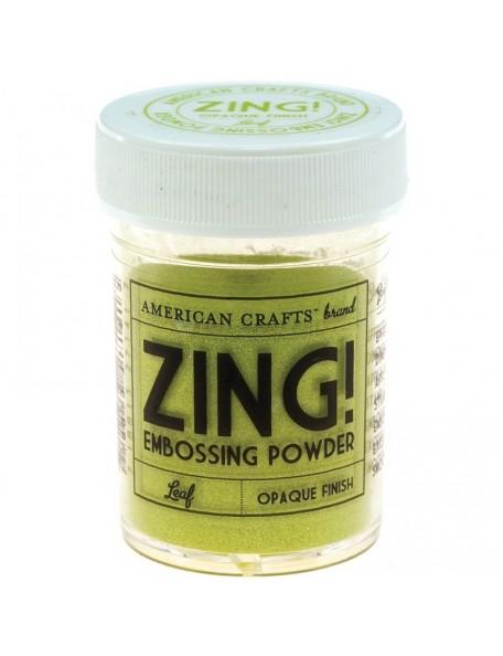 American Crafts Zing! Opaque Embossing Powder 1Oz, Leaf
