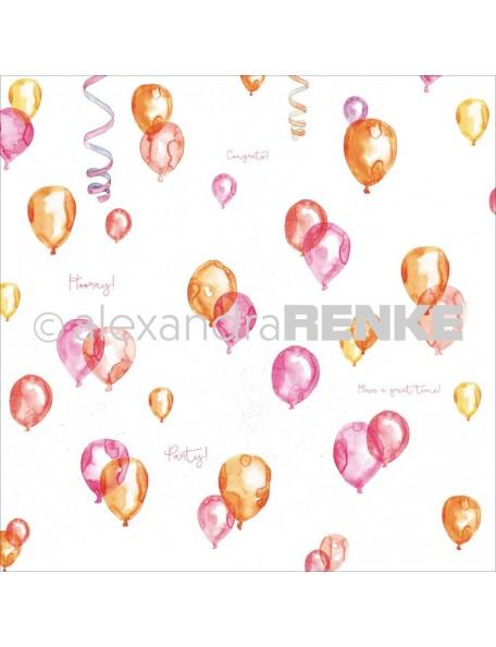 """Alexandra Renke Circus Cardstock de una cara 12""""X12"""", Globos/Balloon"""