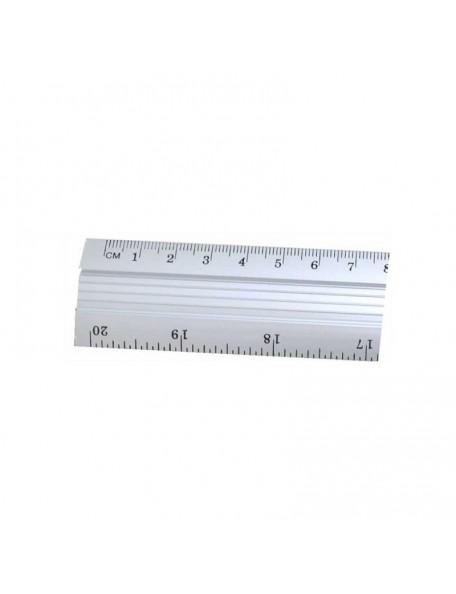 Flugeldorf Regla de Aluminio, Centimetros y Pulgadas