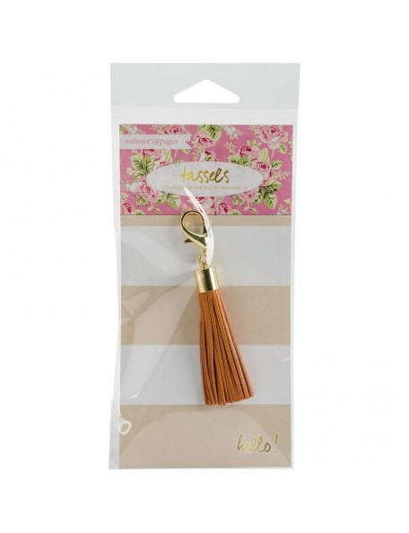 Webster'S Pages Tassel Charm Orange