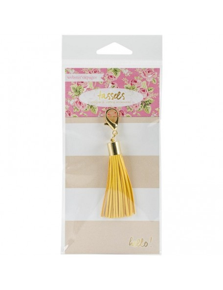 Webster'S Pages Tassel Charm Yellow