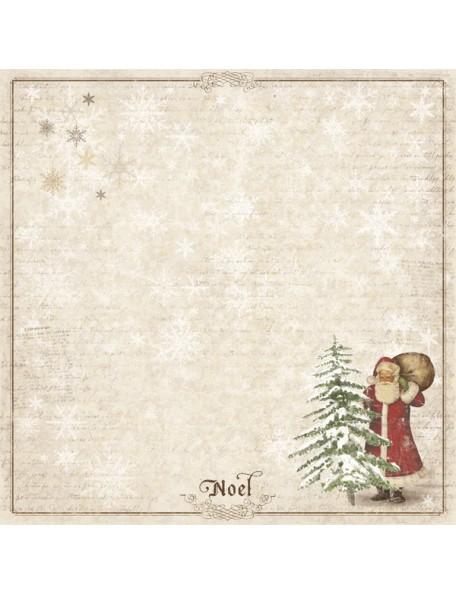"Maja Design It's Christmas time Cardstock de doble cara 12""X12"", Santa and the tree"