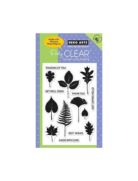 Hero Arts Clear Acrylic Stamps, Leaf Prints
