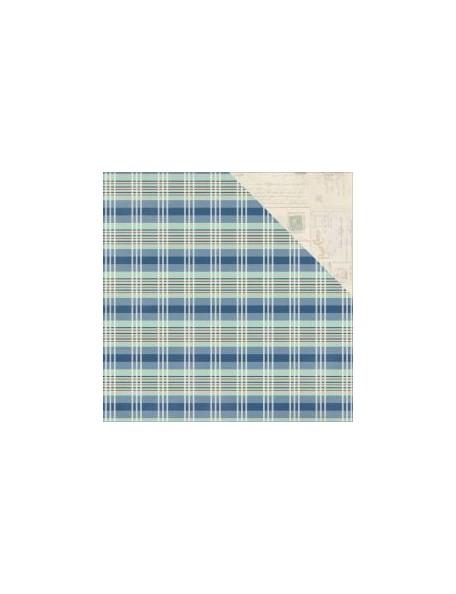 """Authentique Paper Explore Cardstock de doble cara 12""""X12"""", no.11 Plaid/Vintage Blank Postcards"""