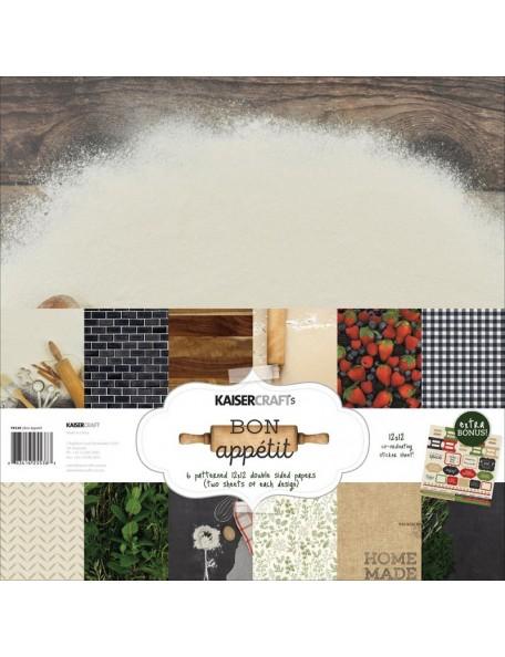 "Kaisercraft Paper Pack 12""X12"" 12, Bon Appetit"