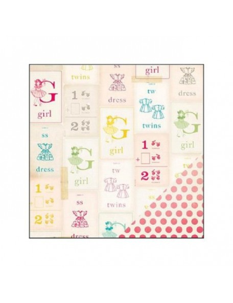 "Crate Paper - Oh Darling Cardstock de doble cara 12""X12"", My Girl"