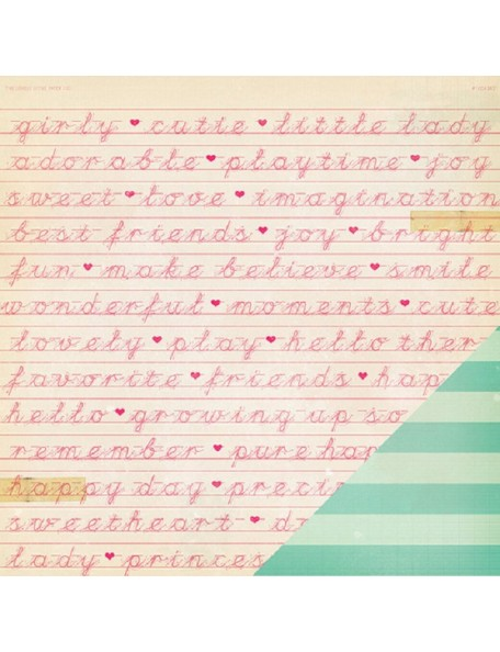 """Crate Paper Oh Darling Cardstock de doble cara 12""""X12"""", Happy Day"""
