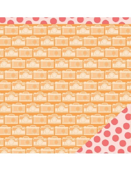 "American Crafts Summer Cardstock de doble cara 12""x12"", Smile"