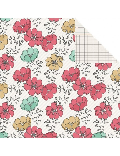 "Teresa Collins Daily Stories Cardstock de doble cara 12""X12"", Floral"
