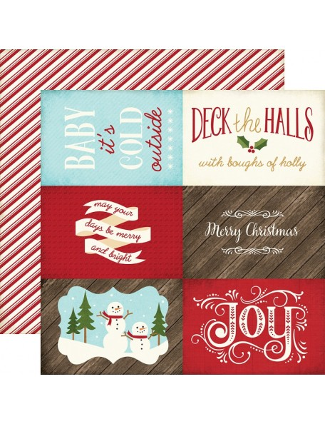 "Echo Park The Story Of Christmas Cardstock de doble cara 12""X12"" 4""X6"" Journaling Cards"