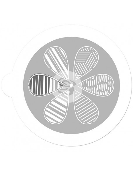 "Prima Marketing Pinwheel Stencil 5"", Petal"