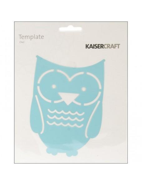 """Kaisercraft Template 6""""X6"""", Owl"""