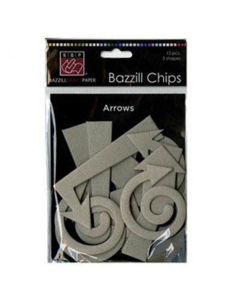 Bazzill Chips recortes Chipboard Flechas