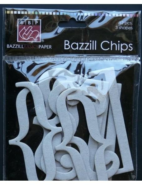 Bazzill Chips recortes Chipboard Adornos
