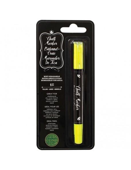 American Crafts Erasable Chalk Marker Yellow