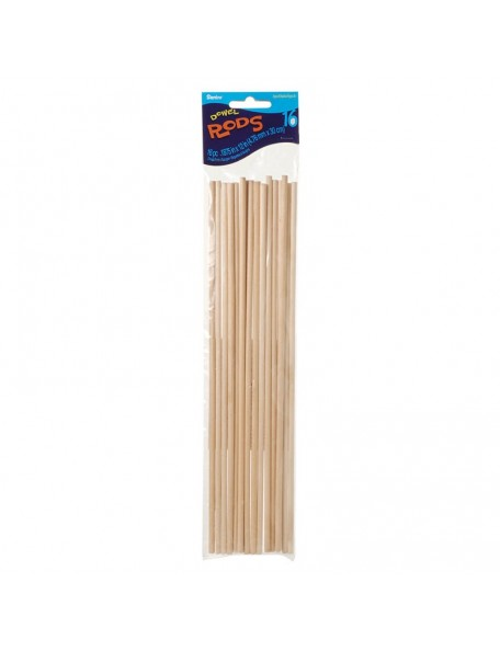 "Darice Dowel Rods 12"", Natural 3/16"" 16"