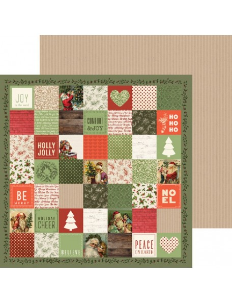 "Kaisercraft Silent Night Cardstock de doble cara 12""X12"", Dec 25th"