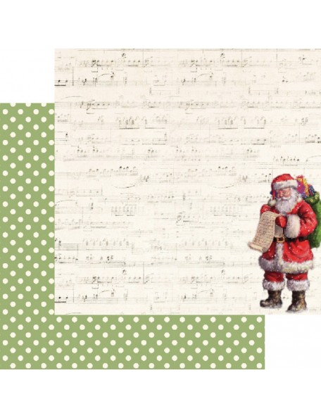 "Kaisercraft Silent Night Cardstock de doble cara 12""X12"", Making A List"