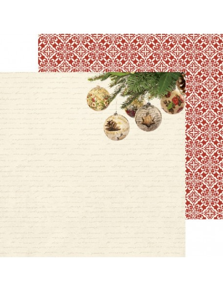 "Kaisercraft Silent Night Cardstock de doble cara 12""X12"", Fill The Stockings"
