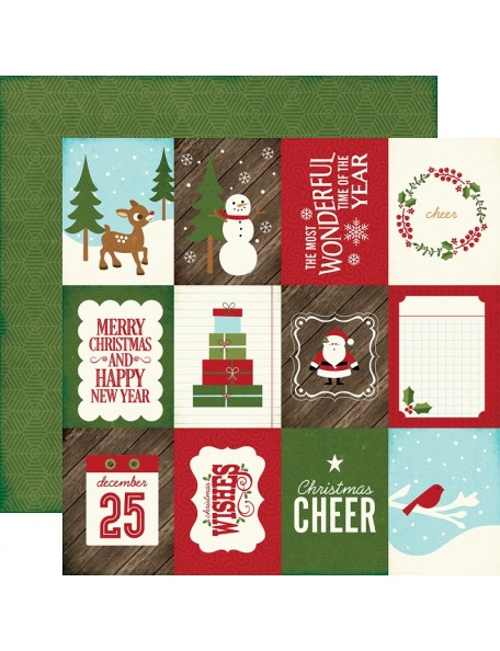 "Echo Park The Story Of Christmas Cardstock de doble cara 12""X12"" 3""X4"" Journaling Cards"