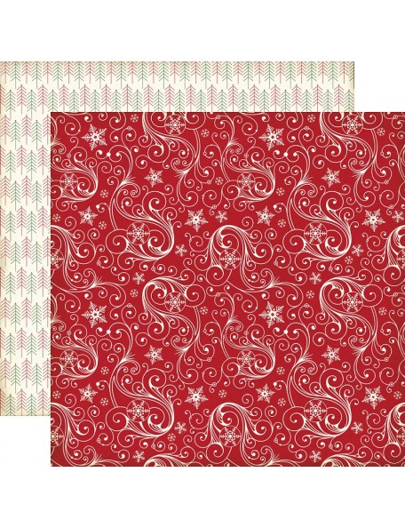 "Echo Park The Story Of Christmas Cardstock de doble cara 12""X12"" 4""X6"" Snowflakes"