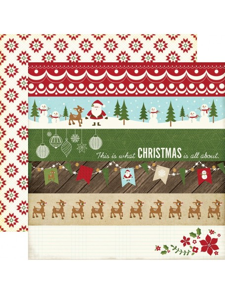 "Echo Park The Story Of Christmas Cardstock de doble cara 12""X12"" 4""X6"" Borders"