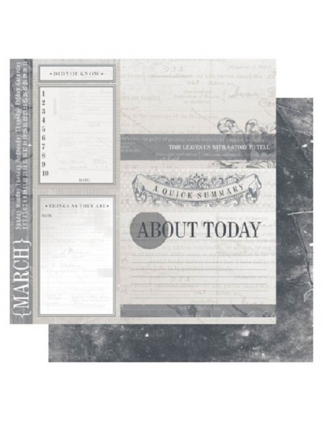 "Ruby Rock-It Year In Review Cardstock 12""X12"", May"