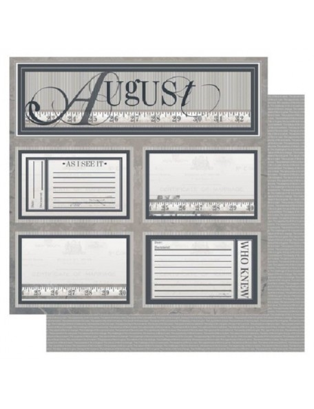 "Ruby Rock-It Year In Review Cardstock 12""X12"", August"
