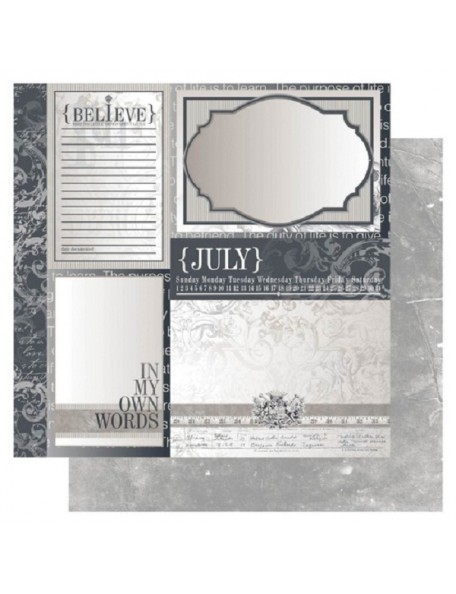 "Ruby Rock-It Year In Review Cardstock 12""X12"", July"