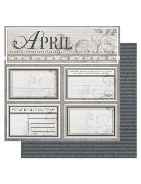 """Ruby Rock-It Year In Review Cardstock 12""""X12"""", April"""