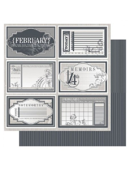 "Ruby Rock-It Year In Review Cardstock 12""X12"", February"