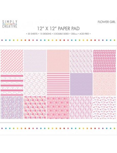"""Simply Creative Paquete de papel de 12""""x12"""" 200 gramos Flower Girl"""