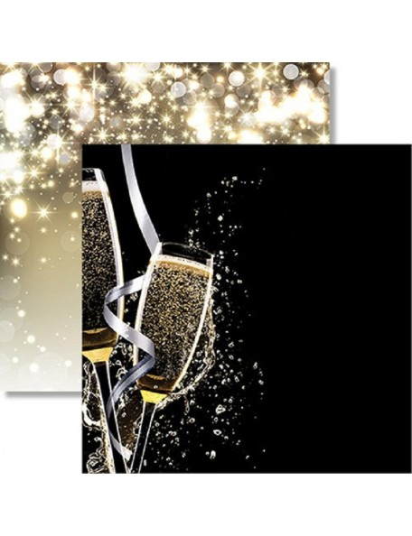 "Reminisce - Wedding Day Cardstock de doble cara 12""X12"", Wedding Toast"